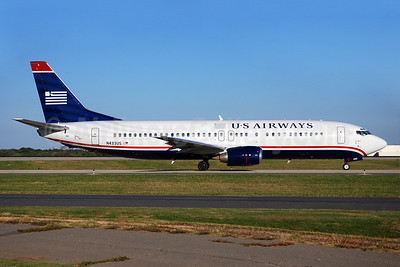 US Airways Boeing 737-4B7 N433US (msn 24555) CLT (Bruce Drum). Image: 100037.