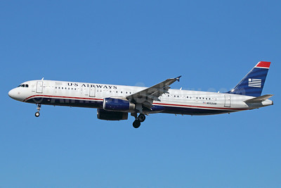 US Airways Airbus A321-231 N552UW (msn 4957) (7000th Airbus) LAX (Michael B. Ing). Image: 921369.