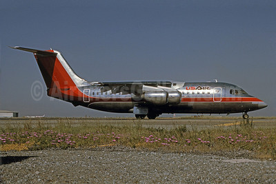 USAir BAE 146-200A N173US (msn E2031) SFO (Bruce Drum Collection). Image: 101037.