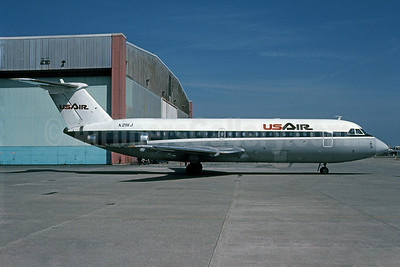 USAir BAC 1-11 204AF N2111J (msn 029) PIT (Elliot H. Greenman - Bruce Drum Collection). Image: 101053.