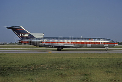 USAir Boeing 727-247 N749US (msn 21393) MCO (Brian G. Gore - Bruce Drum Collection). Image: 101040.