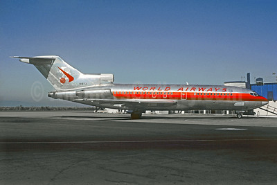 World Airways Boeing 727-23 N1973 (msn 1829) (Frontier Horizon colors) OAK (Christian Volpati Collection). Image: 923323.