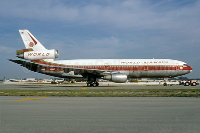 World Airways McDonnell Douglas DC-10-30 N106WA (msn 46835) MIA (Bruce Drum). Image: 103477.