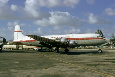 Zantop International Airlines Douglas DC-6B (F) Swing-Tail N434TA (msn 44434) MIA (Bruce Drum). Image: 103475.