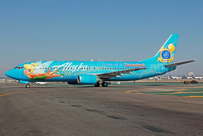 Alaska Airlines Boeing 737-490 N791AS (msn 28886) (Follow Me to Disneyland-The Happiest Place on Earth) (Tinkerbelle) LAX. Image: 912112.