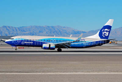 Alaska Airlines Boeing 737-890 WL N512AS (msn 39043) (Boeing Dreamliner colors) LAS (Eddie Maloney). Image: 909849.