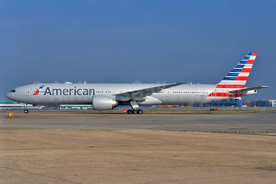 American Airlines Boeing 777-323 ER N717AN (msn 31543) LHR (Wingnut). Image: 911245.