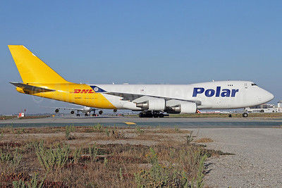DHL-Polar Air Cargo Boeing 747-47UF N416MC (msn 32838) LAX. Image: 910227.