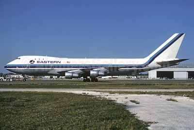 Eastern Airlines (Pan Am) Boeing 747-121 N735PA (msn 19642) MIA (Christian Volpati Collection). Image: 911173.