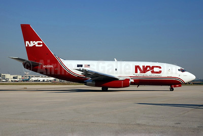 NAC-Northern Air Cargo Boeing 737-232 (F) N320DL (msn 23092) MIA (Bruce Drum). Image: 100803.