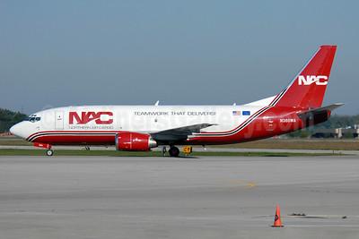 NAC-Northern Air Cargo Boeing 737-301 (SF) N360WA (msn 23553) (Teamwork That Delivers!) YHM (TMK Photography). Image: 908670.