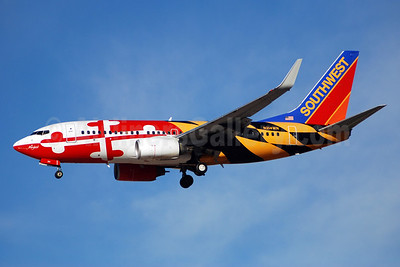 Southwest Airlines Boeing 737-7H4 WL N214WN (msn 32486) (Maryland One) LAS (Bruce Drum). Image: 102661.