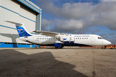 Atlantic Airways-Faroe Islands BAe RJ100 OY-RCC (msn E3357) MAN (Nik French). Image: 907966.