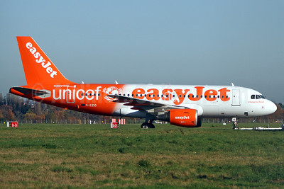 easyJet (UK) Airbus A319-111 G-EZIO (msn 2512) (Supporting UNICEF) SEN (Keith Burton). Image: 909858.