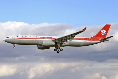 Sichuan Airlines Airbus A330-343 F-WWKL (B-5923) (msn 1397) TLS (Eurospot). Image: 911380.