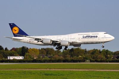 Lufthansa Boeing 747-830 D-ABYA (msn 37827) HAM (Gerd Beilfuss). Image: 908286.