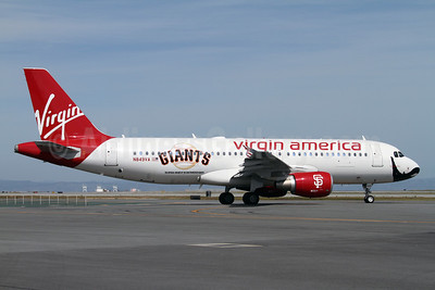 Virgin America Airbus A320-214 N849VA (msn 4991) (San Francisco Giants) SF) (Mark Durbin). Image: 908159.