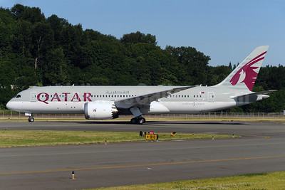 Qatar Airways Boeing 787-8DZ Dreamliner N10187 (A7-BCB) (msn 38320) BFI (Royal S. King). Image: 908690.
