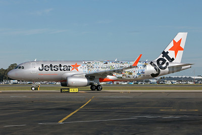 Jetstar Airways (Jetstar.com) (Australia) Airbus A320-232 WL VH-VFN (msn 5566) (Sharklets) (Celebrating 100 aircraft and over 100 million passengers) SYD (John Adlard). Image: 911941.
