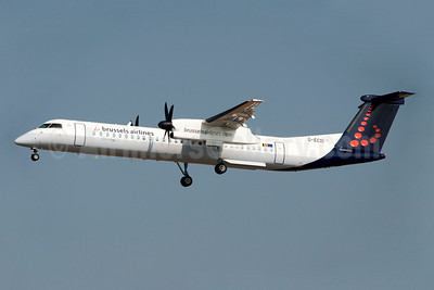 Brussels Airlines-Flybe Bombardier DHC-8-402 (Q400) G-ECOI (msn 4224) BRU (Karl Cornil). Image: 908111.