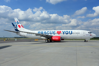 Travel Service Airlines (Czech Republic) Boeing 737-8Z9 WL OK-TVX (msn 33833) (Prague loves you - Prague Airport) AMS (Ton Jochems). Image: 912156.