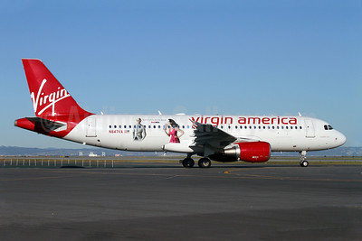Virgin America Airbus A320-214 N847VA (msn 4948) (Banana Republic - Madmen Collection) SFO (Mark Durbin). Image: 901788.