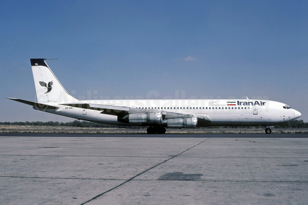 IranAir-The Airline of the Islamic Republic of Iran Boeing 707-386C EP-IRL (msn 20287) SHJ (Rolf Wallner). Image: 912933.