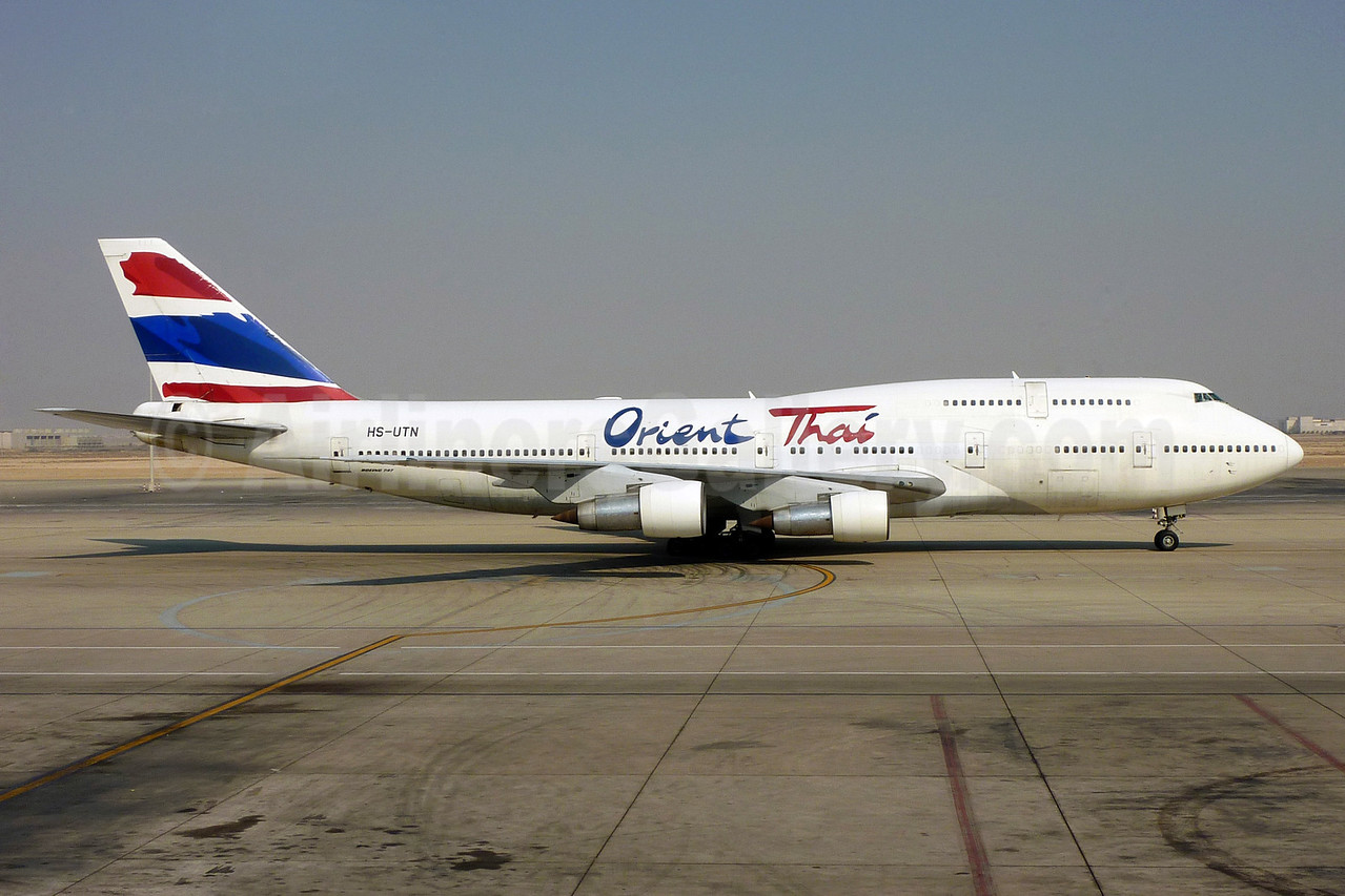 Orient Thai Airlines Boeing 747-346 HS-UTN (msn 23149) JED (Pepscl). Image: 904271.