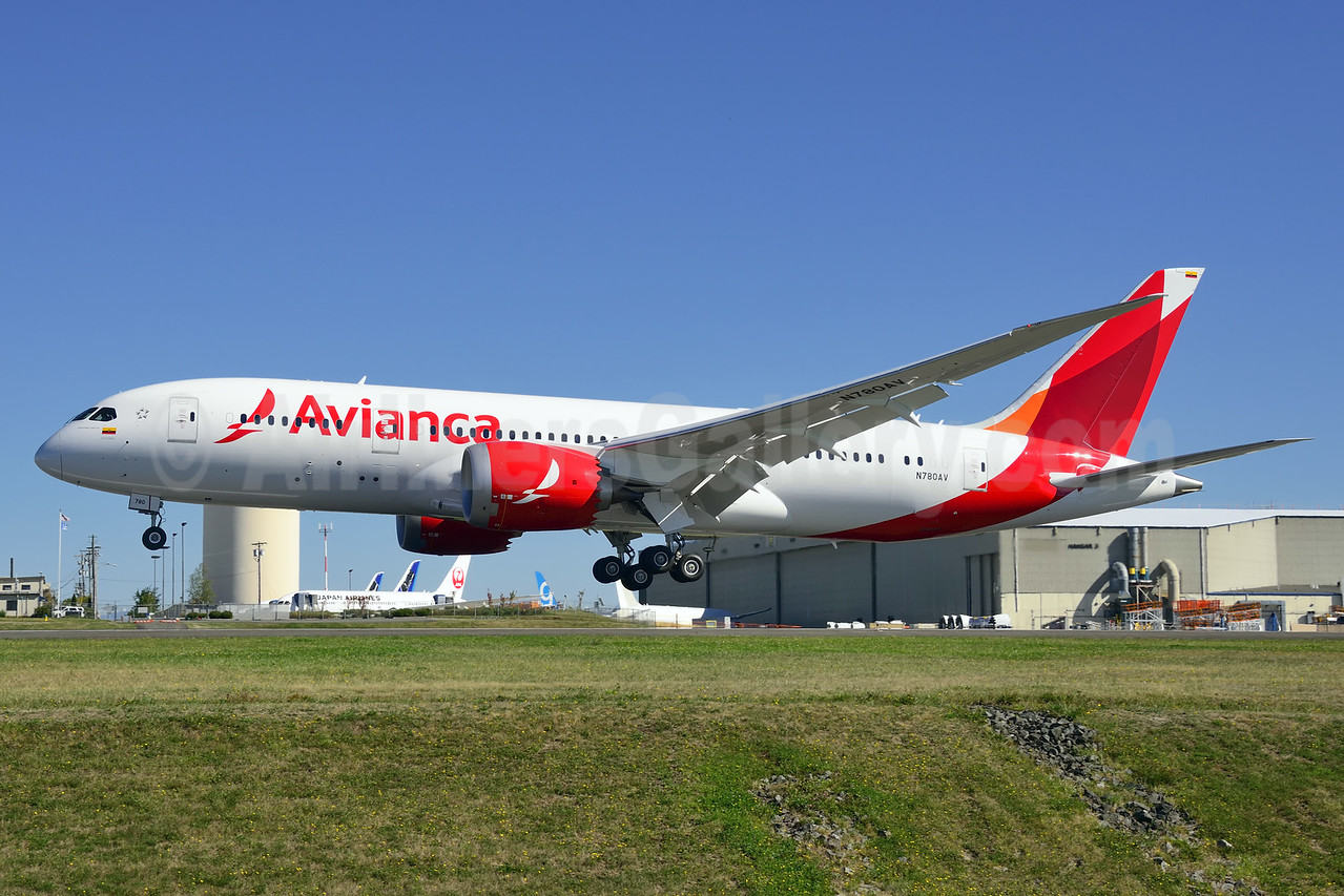 The first Boeing 787 for Avianca