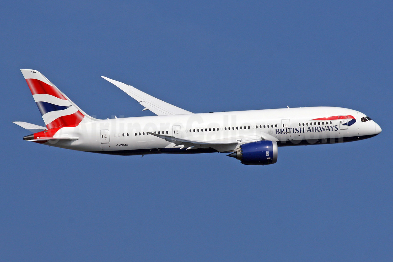 British Airways Boeing 787-8 Dreamliner G-ZBJA (msn 38609) LHR (SPA). Image: 924412.
