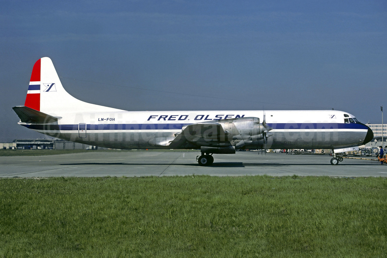 Fred Olsen Air Transport (Fred Olsen Flyselskap A/S) Lockheed 188A Electra LN-FOH (msn 1145) CDG (Christian Volpati). Image: 907375.