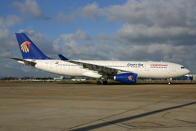 EgyptAir Airbus A330-243 SU-GCJ (msn 709) LHR. Image: 929592.