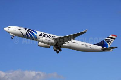 EgyptAir - Arab Republic of Egypt Airbus A330-343 SU-GDT (msn 1230) LHR (SPA). Image: 929075.
