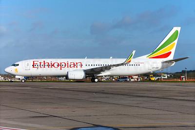 Ethiopian Airlines Boeing 737-860 WL ET-AQO (msn 40968) DUB (Greenwing). Image: 929142.