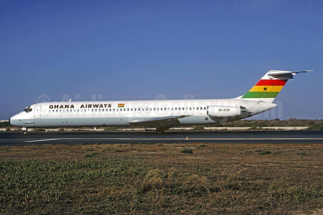 Ghana Airways McDonnell Douglas DC-9-51 9G-ACM (msn 47755) DKR (Christian Volpati Collection). Image: 932940.