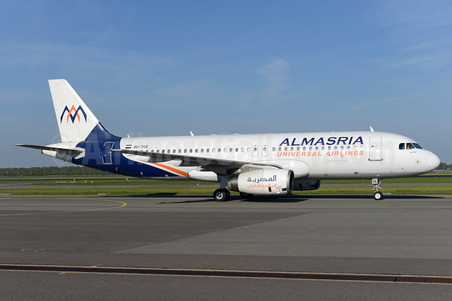 AlMasria Universal Airlines Airbus A320-232 SU-TCE (msn 977) AMS (Ton Jochems). Image: 937743.