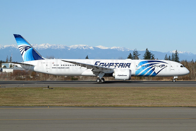SU-GER - EgyptAir's first 787 Dreamliner, delivered on March 27, 2019