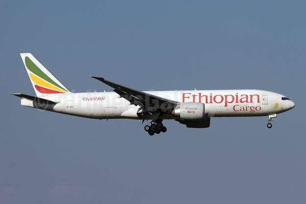 Ethiopian Cargo (Ethiopian Airlines) Boeing 777-F6N ET-APU (msn 41817) (Pharma Wing) ZRH (Andi Hiltl). Image: 954903.