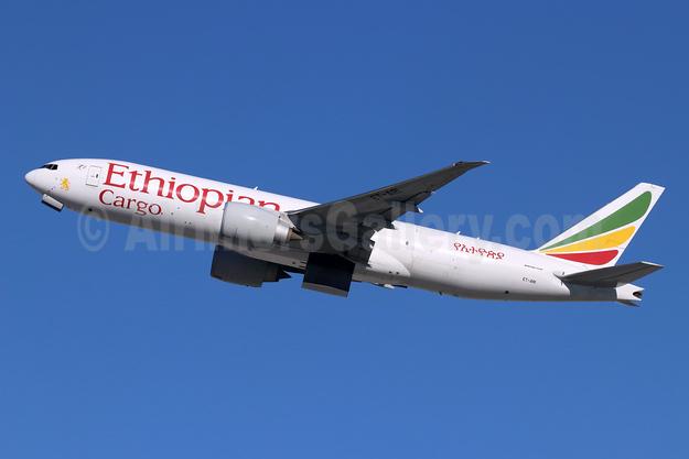 Ethiopian Cargo (Ethiopian Airlines) Boeing 777-F60 ET-ARI (msn 42032) LAX (Michael B. Ing). Image: 946944.