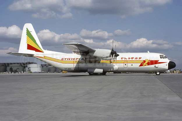 Ethiopian Airlines Lockheed 382G (L-100-30) Hercules ET-AKG (msn 5306) FRA (Christian Volpati Collection). Image: 955161.