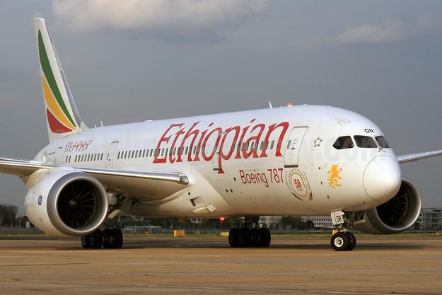 Ethiopian Airlines Boeing 787-8 Dreamliner ET-AOR (msn 34746) LHR (SPA). Image: 924499.