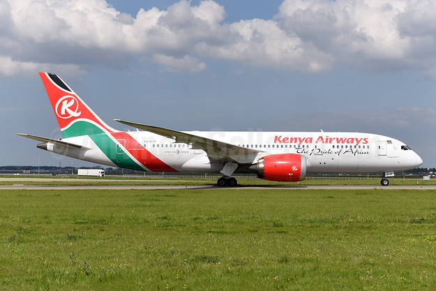 Kenya Airways Boeing 787-8 Dreamliner 5Y-KZE (msn 36042) ZRH (Ton Jochems). Image: 942202.