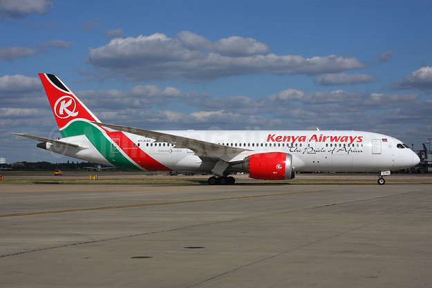 Kenya Airways Boeing 787-8 Dreamliner 5Y-KZD (msn 36041) LHR (SPA). Image: 926608.