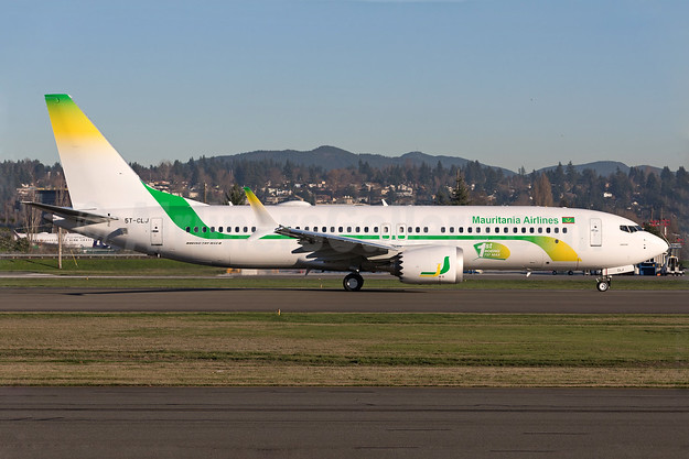 Mauritania's first Boeing 737-8 MAX 8, delivered on December 20, 2017