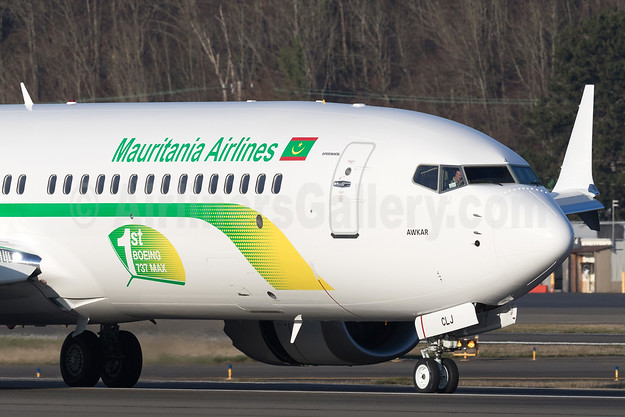 Mauritania Airlines International Boeing 737-8 MAX 8 N6067U (5T-CLJ) (msn 64299) BFI (Brandon Farris). Image: 940359.