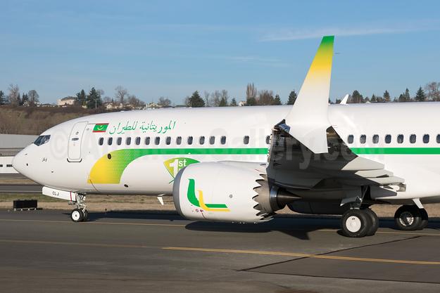 Mauritania Airlines International Boeing 737-8 MAX 8 N6067U (5T-CLJ) (msn 64299) BFI (Brandon Farris). Image: 940360.