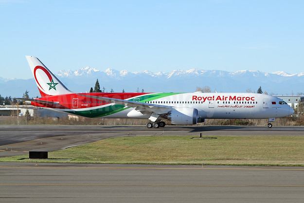 RAM's first Boeing 787-9 Dreamliner in a special livery