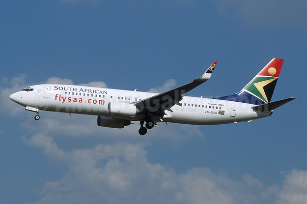 South African Airways Boeing 737-844 WL ZS-SJS (msn 32632) JNB (Christian Volpati). Image: 948484.