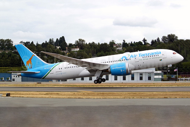 "Air Tanzania's first Dreamliner, ""Kilimanjaro"", handed over on July 7, 2018"