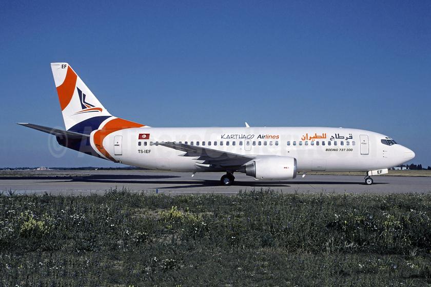 Karthago Airlines Boeing 737-3Q8 TS-IEF (msn 26309) CDG (Christian Volpati). Image: 953078.